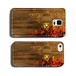Traditional Asian Lantern with autumn Decorations on Rustic Wood cell phone cover case Samsung S6