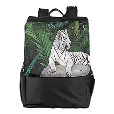 durable modeling Newfood Ss White Tiger Setting On Stone Tropic Plants  Leaves Jungle Majestic Creature Wildlife 67da41a389bf0