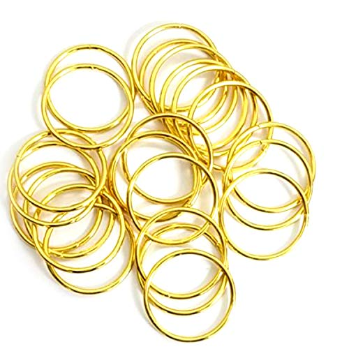 Metal Rings - for Dream Catcher, Macrame Supplies, Ring Napkin Holders. Gold Hoops by Better Crafts. (100, 2-Inch)