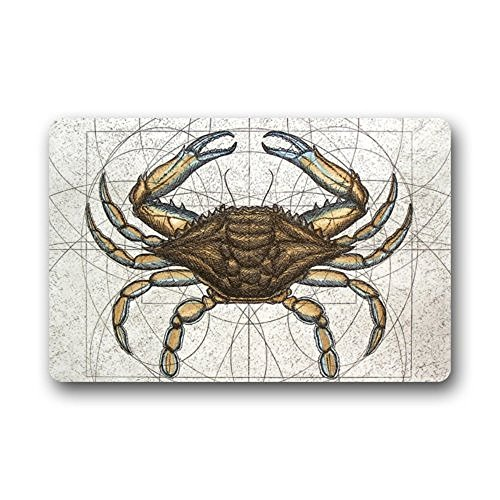 HiDoormat-Crab-Non-Slip-Rubber-Entrance-Door-Mat-Doormats-Machine-washable-FloorBath-Decor-Mats-Rug