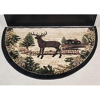 Amazon Com Dh Wildlife Bear Moose Hearth Rug Fire