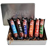 Carnivore Club 6-Pack Salami Sampler Taste of Europe - Comes in Premium Gift Tin Box - Meat Sampler Gourmet Food Gift Basket - Great with Crackers Cheese Wine - Ultimate Gift for Meat Lovers