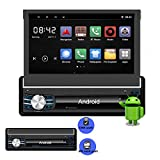 Yody Single Din Android Car Stereo In Dash 7 Inch Detachable Front Panel HD 1024x600p Capacitive Touch Screen WiFi,Bluetooth,GPS,Navigation,USB/SD/AM/FM/AUX Car Radio Audio,Mirror Link,Back Up Camera