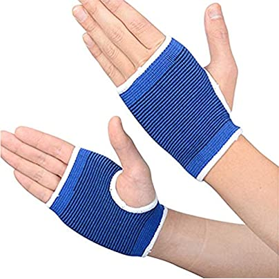 XUMIN Pair Blue Protective Gear Gloves Armguard Wristbands Fitness Sports Equipment Weightlifting Gloves Unisex Movement Gloves for Riding Roller Skating Barbell Dumbbell Badminton and Basketball Estimated Price £6.77 -