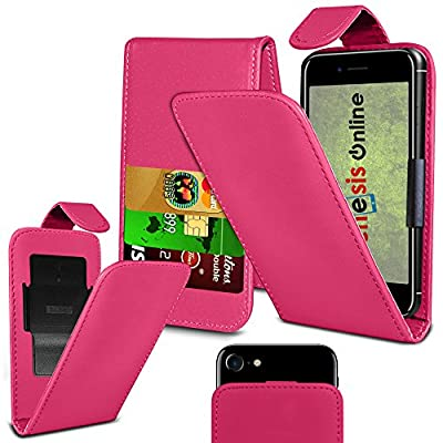 buy popular d09eb 78819 Hot Pink) Doro 8030 case PU Thin Leather Protective Clamp Case ...