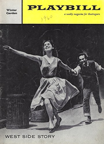 "Stephen Sondheim ""WEST SIDE STORY"" Carol Lawrence / Leonard Bernstein 1960 Broadway Playbill"