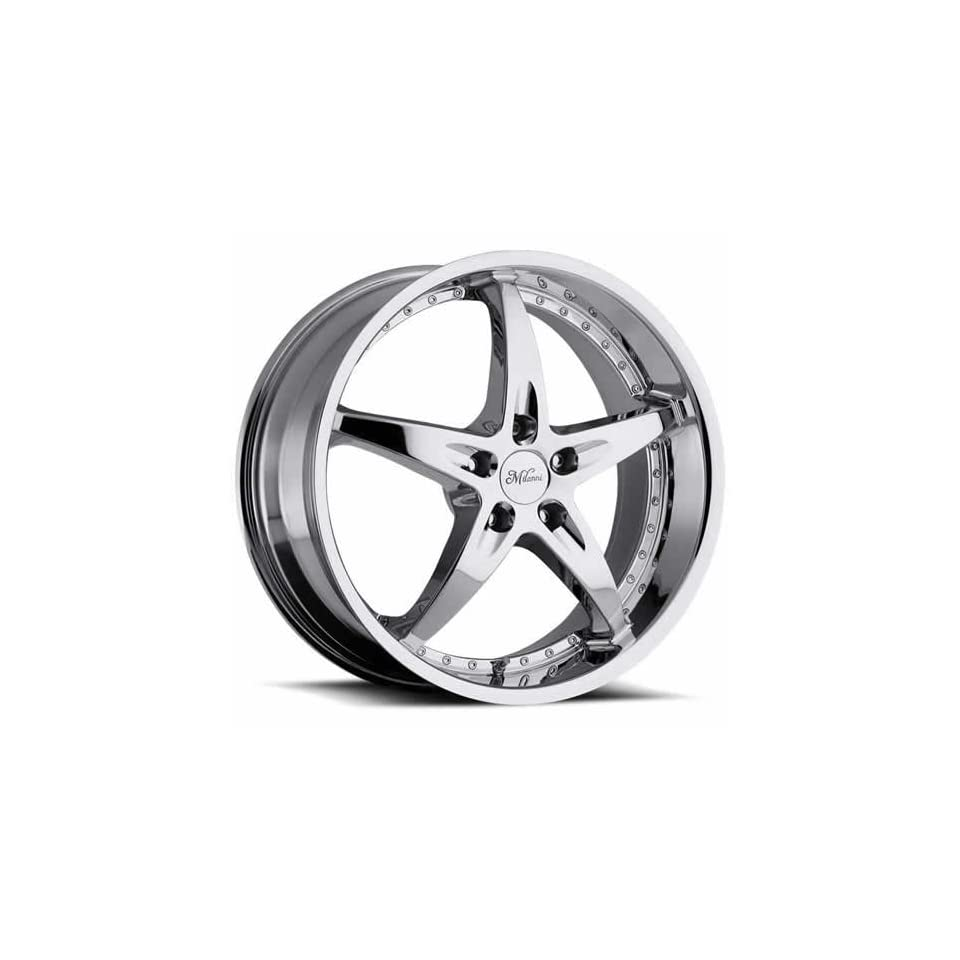 Milanni ZS 1 20 Chrome Wheel / Rim 5x115 with a 40mm Offset and a 74.1 Hub Bore. Partnumber 453 2190C40