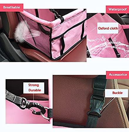Meiying Pet Car Seat Carrier for Dog Cat Lookout Booster Seat