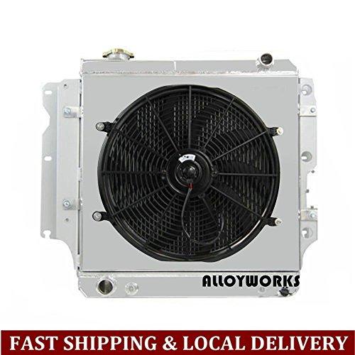 Shroud Kit Engine (ALLOYWORKS 3 Row Full Aluminum Radiator Fan Shroud Kit for Jeep Wrangler YJ/TJ 2.4L-4.2L Engine 1987-2006)
