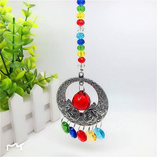 Hot Sale!DEESEE(TM)Vintage Clear Crystal Ball Suncatcher Prisms Pendant Hanging Car Decor Gift (Multicolor)