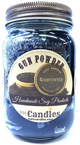 - Gun Powder 16oz Country Jar Handmade Soy Candle