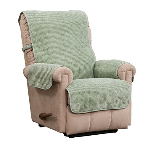 Ripple Plush Recliner Protector With Secure Fit