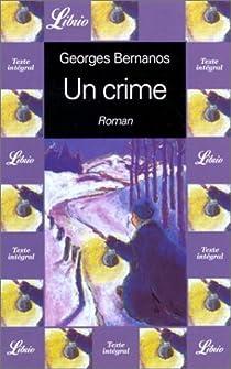 Un crime par Bernanos