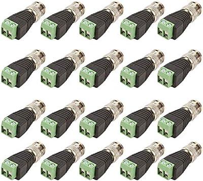20 Unidslote Mini Coaxial CAT5 A Cámara CCTV BNC UTP Video Balun Conector Adaptador BNC Enchufe para Accesorios de Sistema CCTV: Amazon.es: Electrónica