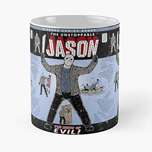 Halloween Michael Myers Friday The 13th Jason Voorhees - 11 Oz Coffee Mugs Unique Ceramic Novelty Cup, The Best Gift For Halloween.]()