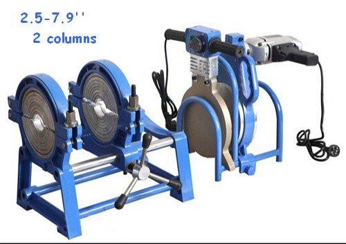 TechTongda 110V 2 clamps 2.5-7.9'' Manual Pipe Butt Fusion Welding Machine Welder PE PR