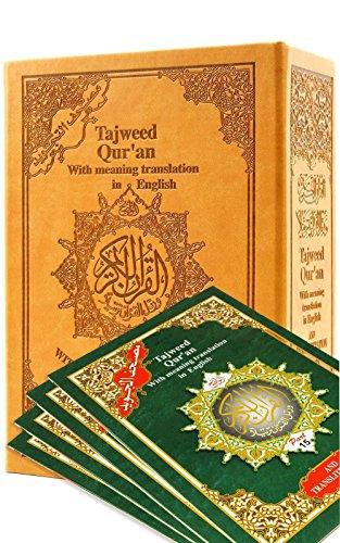 Tajweed Quran with English Transliteration & Transliteration in 30 Parts (English - Arabic) (Quran In Juz)