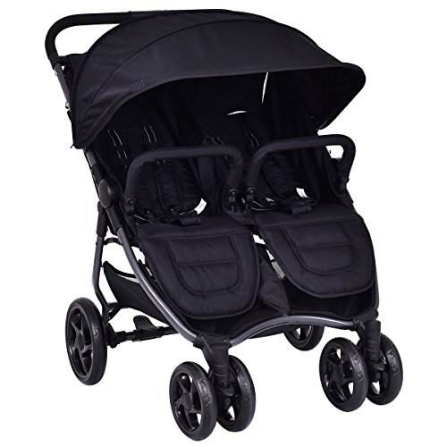 Costzon Double Stroller Foldable Aluminum Twin Travel Stroller with Umbrella by Costzon