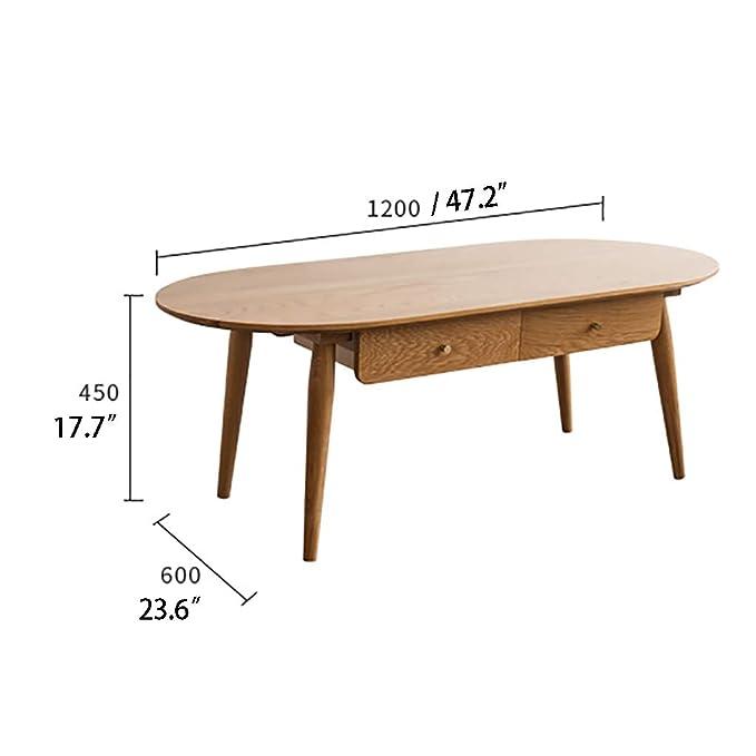 side table Funky Furniture - Mesa de Centro rústica con Estante de ...