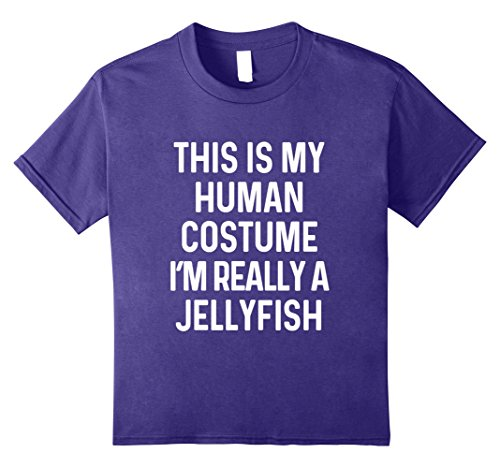 Jellyfish Costume Amazon (Kids Funny Jellyfish Costume Shirt Halloween Men Women Kids 12 Purple)
