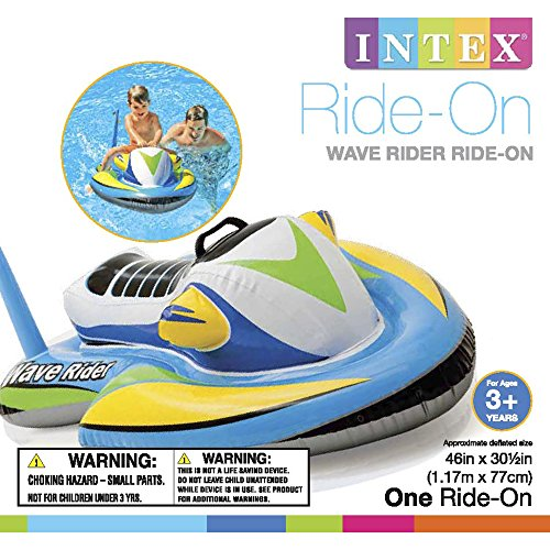 "51W58MAPt6L - Intex Wave Rider Ride-On, 46"" X 30.5"", for Ages 3+"