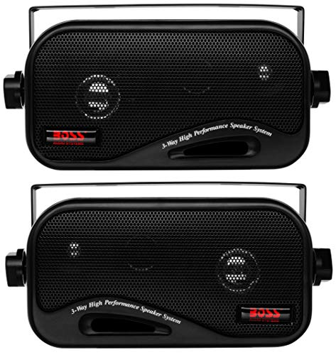 200w Speaker System - BOSS Audio AVA6200 Enclosed Speaker System - 3-Way, 200 Watts Max Power Per Pair