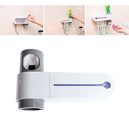 Amazon.com  Yumian UV Toothbrush Sterilizer And Toothpaste Dispenser ... 4617a6eacd