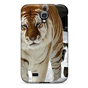 Quality LKIDD Case Cover With Strange Snow Tiger Nice Appearance Compatible With Galaxy S4