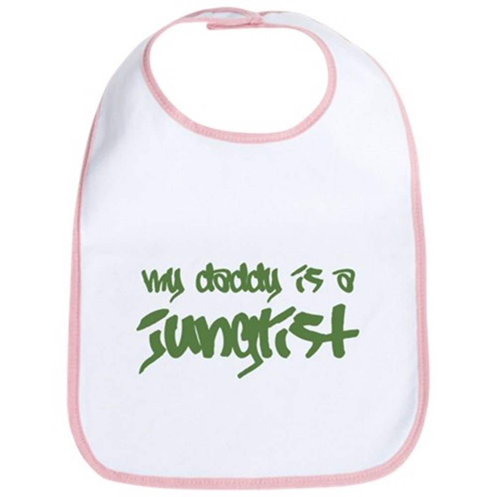 CafePress - My Daddy Is A Junglist Bib - Cute Cloth Baby Bib, Toddler Bib