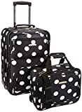 Rockland Luggage 2 Piece Set, Black Dot, Medium