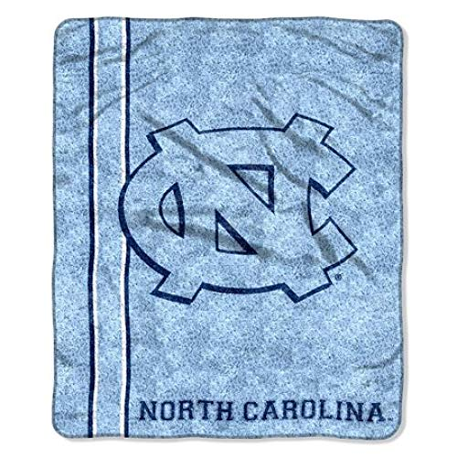 The Northwest Company Officially Licensed NCAA North Carolina Tar Heels Jersey Sherpa on Sherpa Throw Blanket, 50