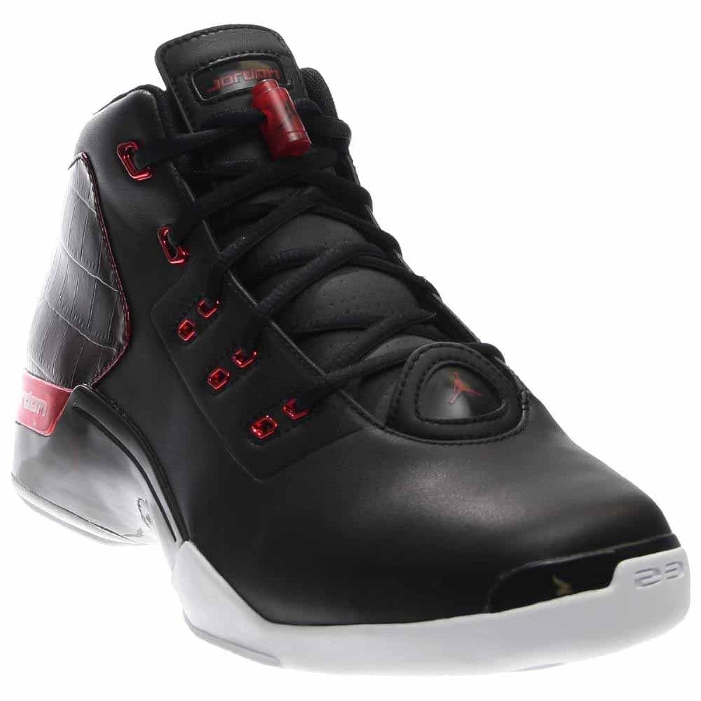 Jordan AirJordan 17+ Retro Men Round Toe Leather Basketball Shoe B01DMQXP78 7.5 D(M) US