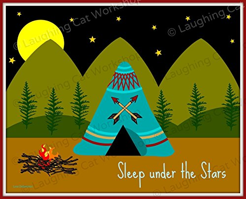 Sleep Under The Stars Happy Camper Print made our list of Inspirational And Funny Camping Quotes