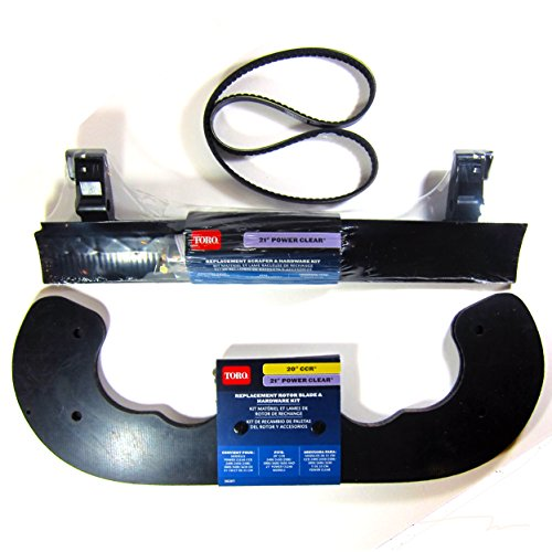 Toro Power Clear 621 Snowblower Paddles (38261), Scaper (38269) and V-Belt (108-4921)