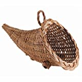Bulk Buy: Darice DIY Crafts Wicker Cornucopia 12 inches (6-Pack) 2835-09