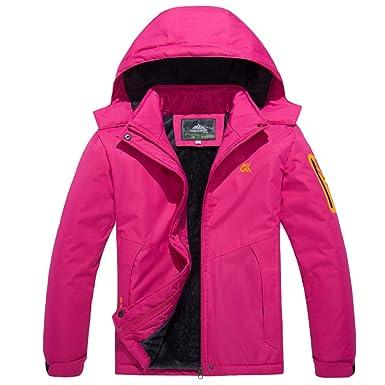 51be8fe33a Amazon.com  YIRUIYA Women s Mountain Waterproof Ski Jacket Outdoor Windproof  Snow Jacket  Clothing
