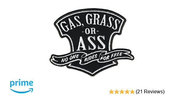 Grass Or Ass Patch Hot Leathers Gas 4 Width x 3 Height