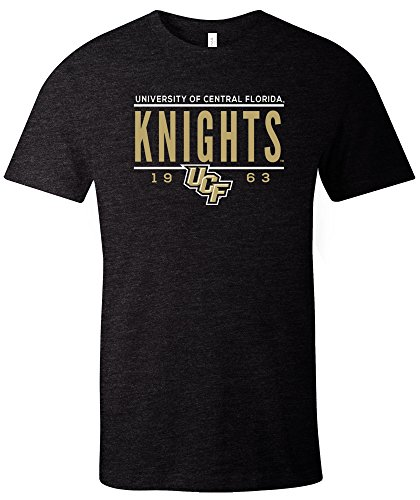 NCAA Central Florida Golden Knights Tradition Short Sleeve Tri-Blend T-Shirt, Solid Black,Small - Central Florida Baseball