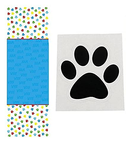 .com: dog party supplies set - 1 paw print tablecloth (54 x ...