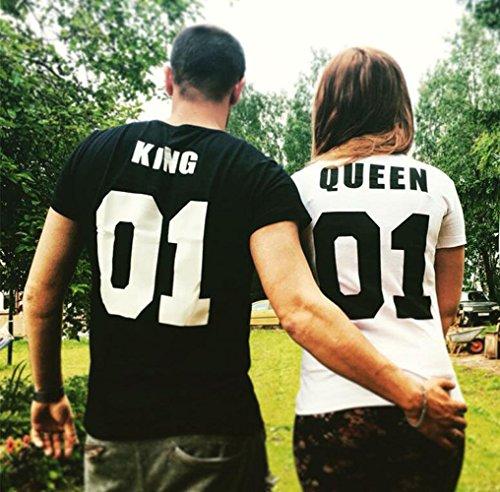 JWBBU King, Queen 1ª Edición- camisetas disponibles para hombre y mujer, algodón y poliester, tallas s-xxxl(venta por unidad de camiseta�?blanco-queen