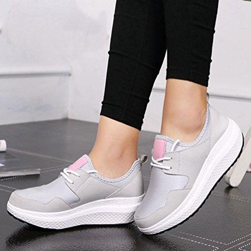de Chaussures pour JITIAN en Les Wedge à air Femmes Baskets Course Bas Respirant athlétiques Plein Pied Haut OxqwBT7xU