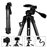 Fotopro Camera Tripod, 61'' Compact Lightweight Tripod, Travel Tripod with Bluetooth and Phone Tripod Mount, Aluminium Camera Stand for DSLR Camera Camcorder Canon Phone