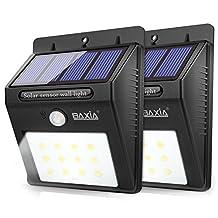 BAXIA TECHNOLOGY Wireless Security Motion Sensor Solar Night Lights (2-PACK)