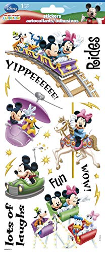 (Sandylion SB5X12CL Disney Amusement Park Clear STK 5.5X12 Paper Craft 5.5 x 12 Stickers, Multi)