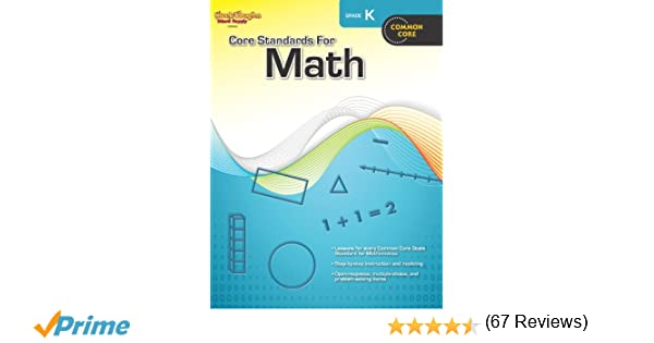 Amazon.com: Core Standards for Math: Reproducible Grade K ...