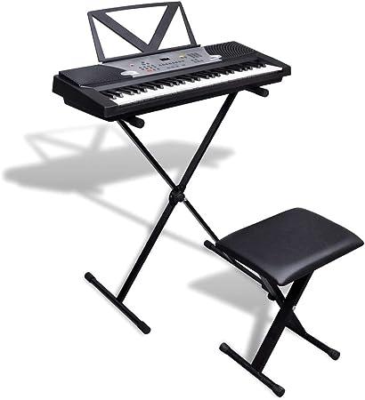 FZYHFA Piano Eléctrico de 54 Teclas con Atril,Teclados ...