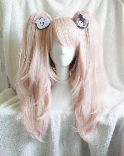 Dangan Ronpa Enoshima Junko Cosplay Wig + Monokuma Headdress