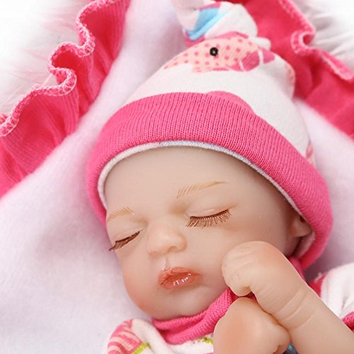 ピンキーSleeping 20 CM 8インチソフトビニールシリコン人形So Truely Lifelike Looking Realistic Reborn人形Baby Girl Eyes Closed Xmasギフト   B074QQ94ZJ