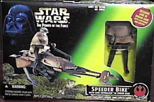 Star Wars Power of the Force Luke Skywalker with Speeder Bike