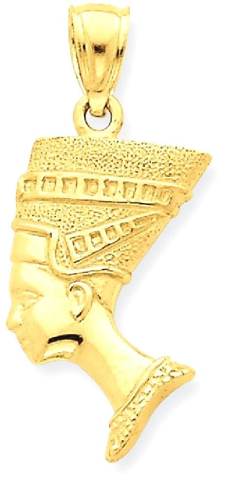 ICE CARATS 14k Yellow Gold 3 D Nefertiti Pendant Charm Necklace Travel Transportation by ICE CARATS
